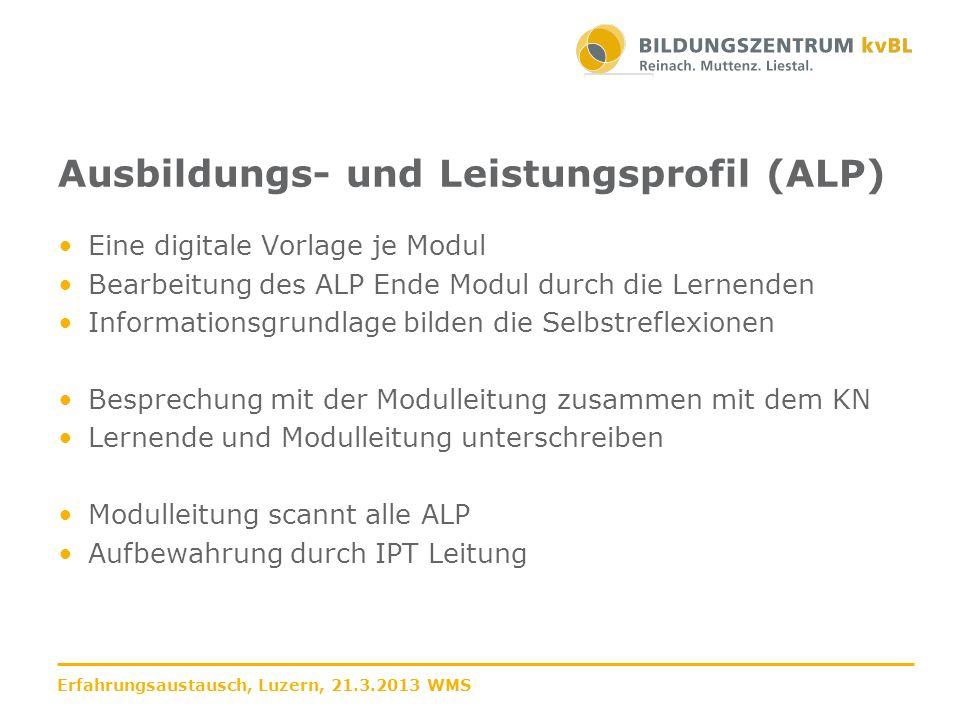 Ausbildungs- und Leistungsprofil (ALP)