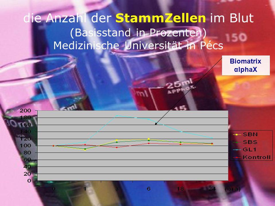 die Anzahl der StammZellen im Blut (Basisstand in Prozenten) Medizinische Universität in Pécs