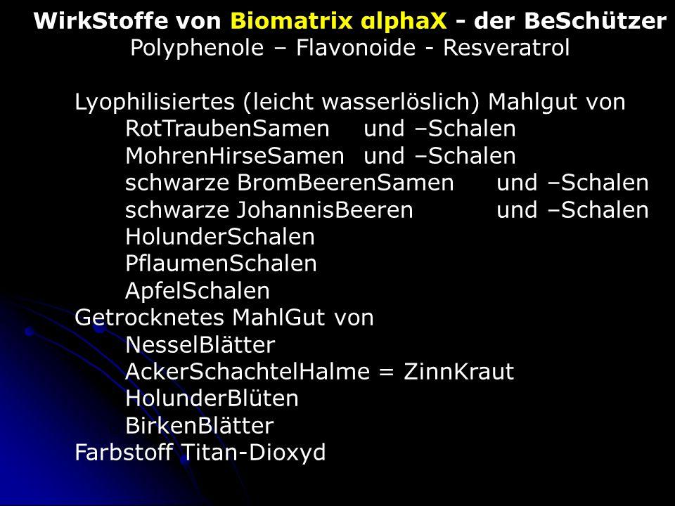 WirkStoffe von Biomatrix αlphaX - der BeSchützer
