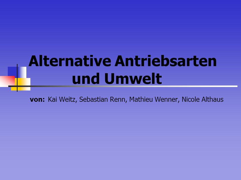 Alternative Antriebsarten und Umwelt