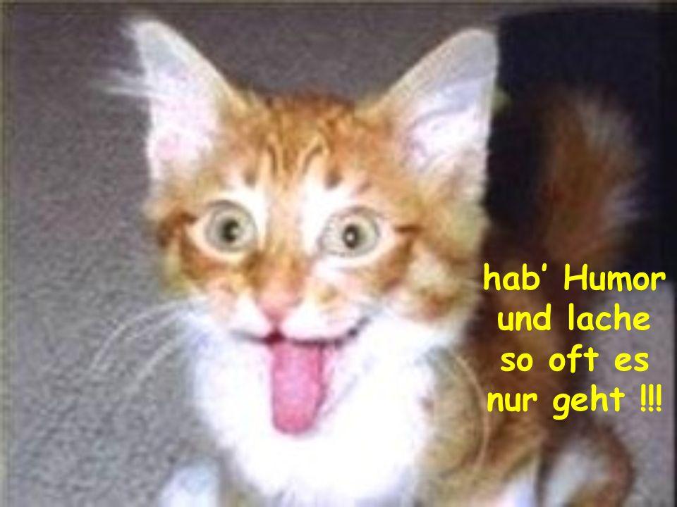 hab' Humor und lache so oft es nur geht !!!