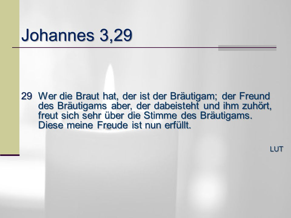 Johannes 3,29