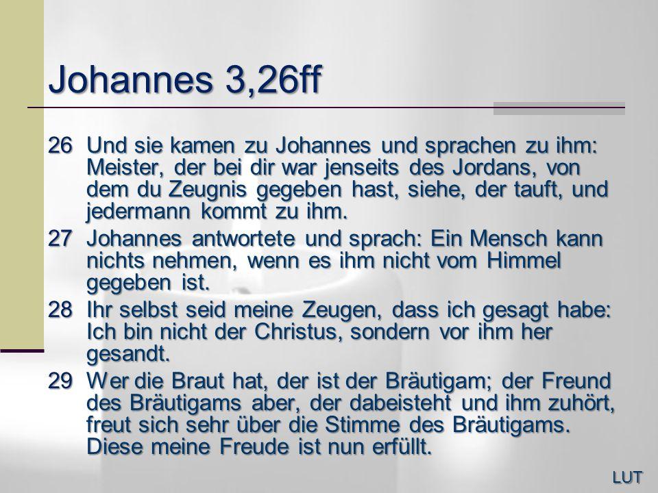 Johannes 3,26ff