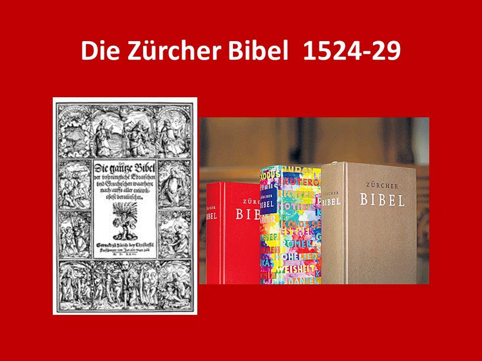 Die Zürcher Bibel 1524-29