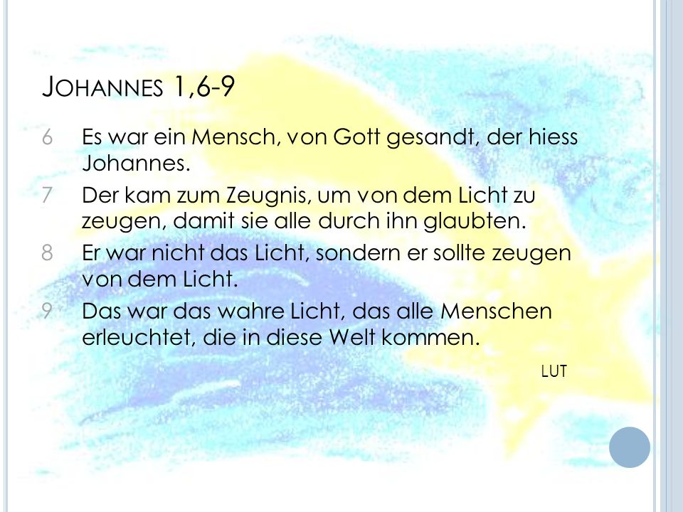 Johannes 1,6-9