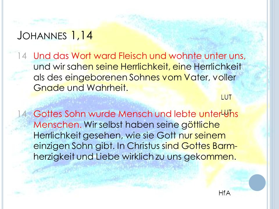 Johannes 1,14