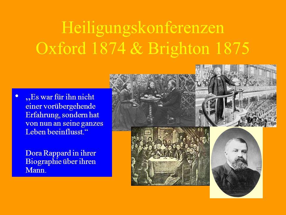 Heiligungskonferenzen Oxford 1874 & Brighton 1875