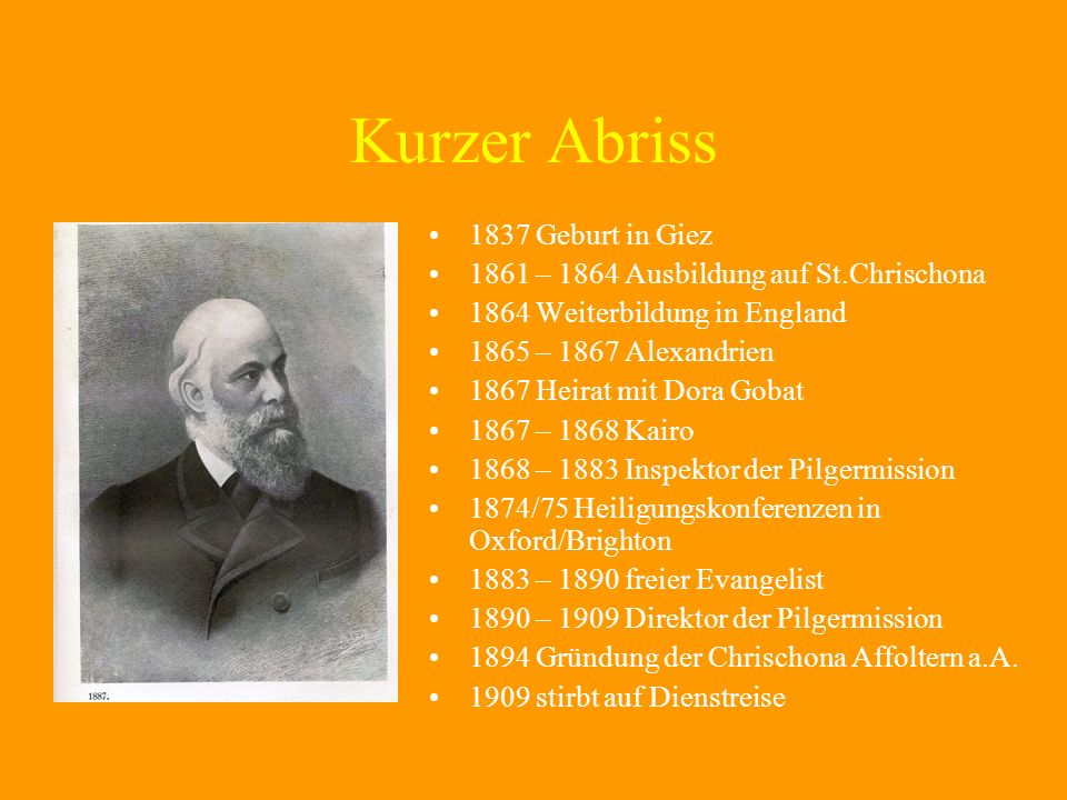 Kurzer Abriss 1837 Geburt in Giez