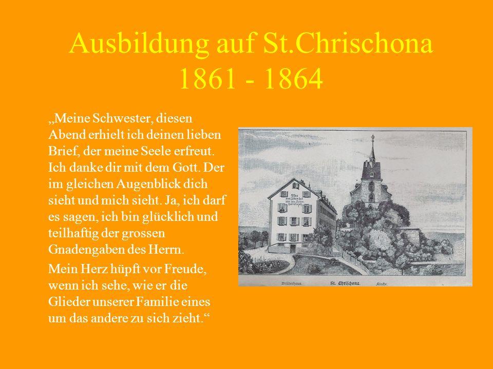 Ausbildung auf St.Chrischona 1861 - 1864