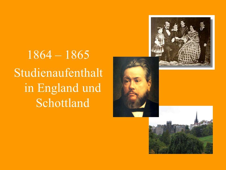 Studienaufenthalt in England und Schottland