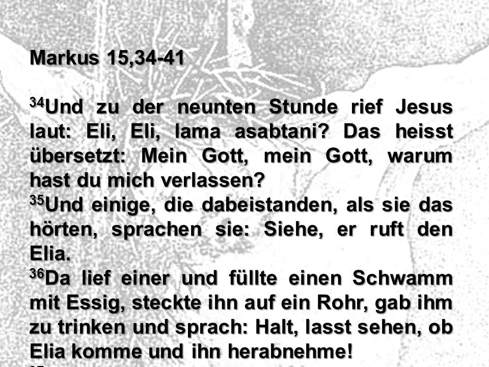 Markus 15,34-41
