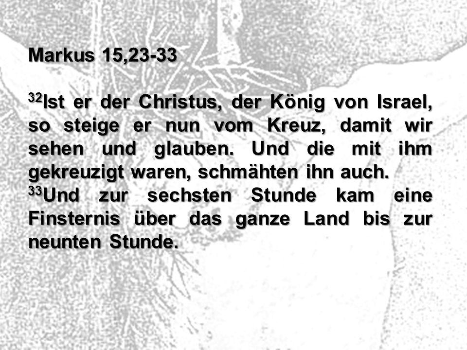 Markus 15,23-33
