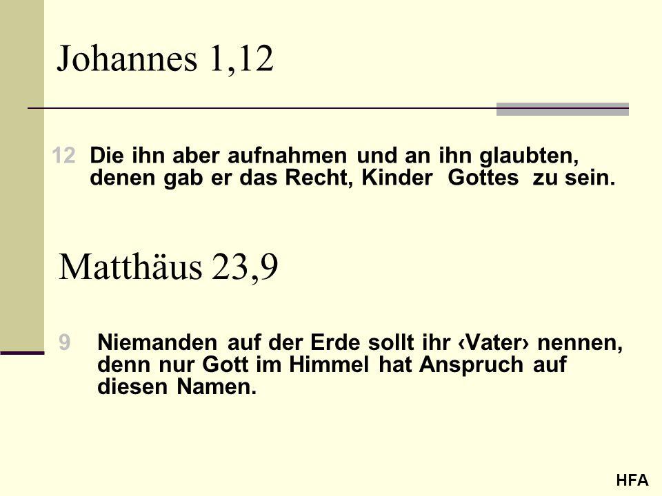 Johannes 1,12 12 Die ihn aber aufnahmen und an ihn glaubten, denen gab er das Recht, Kinder Gottes zu sein.