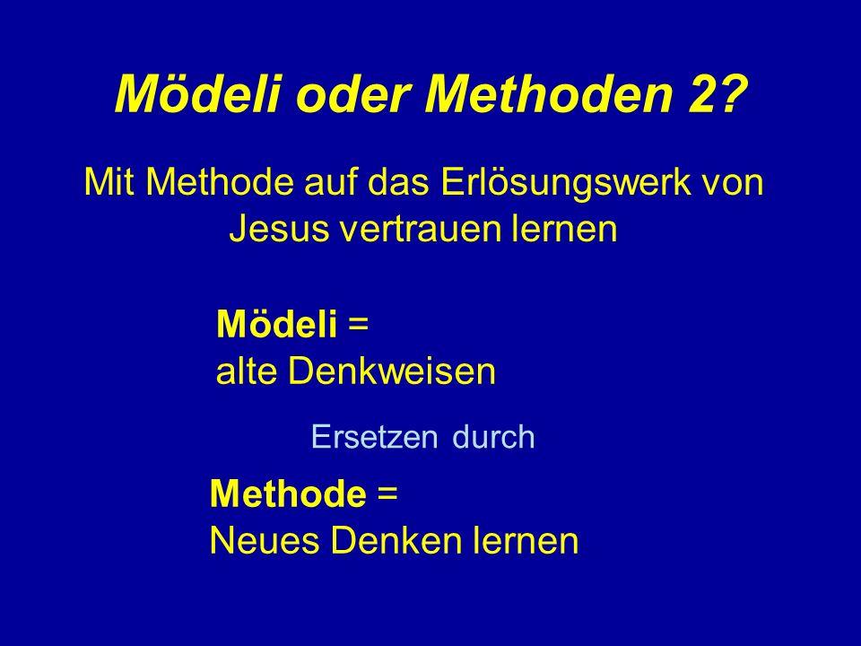 Mit Methode auf das Erlösungswerk von Jesus vertrauen lernen