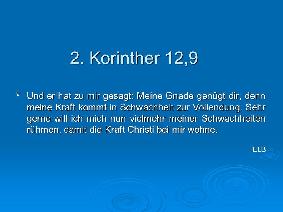2. Korinther 12,9