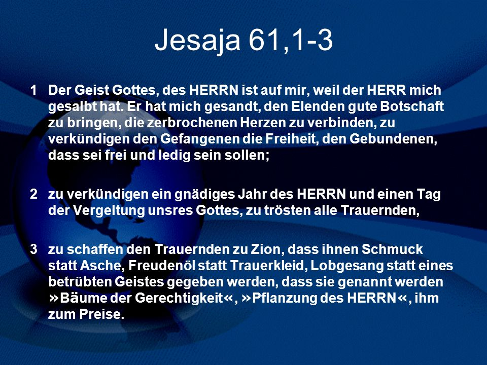 Jesaja 61,1-3