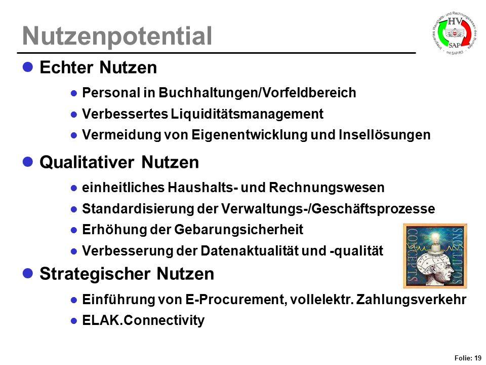 Nutzenpotential Echter Nutzen Qualitativer Nutzen Strategischer Nutzen