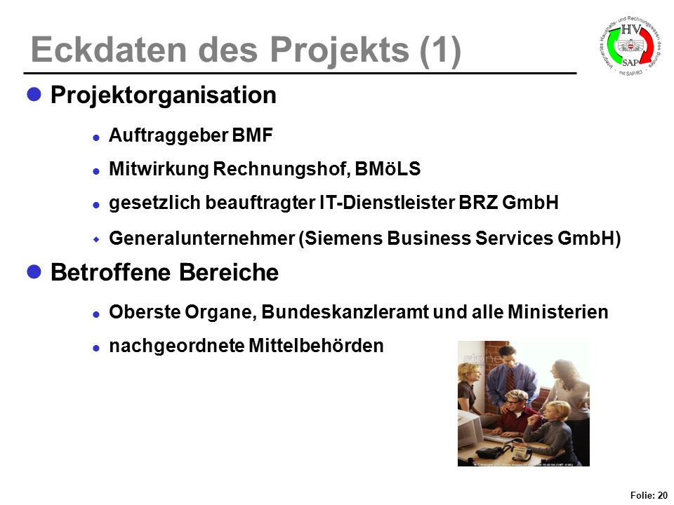 Eckdaten des Projekts (1)