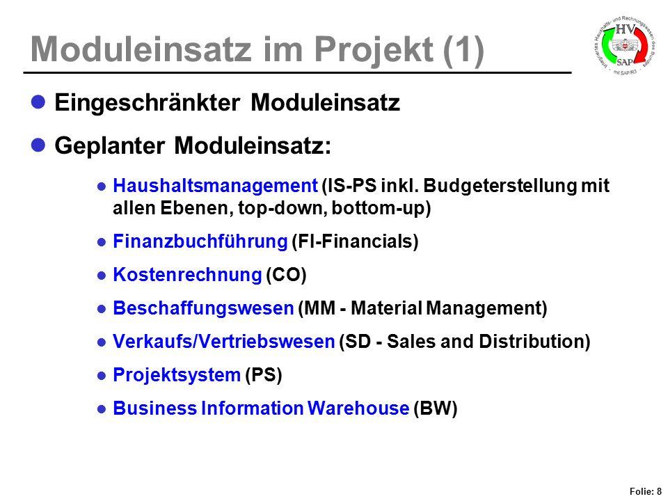 Moduleinsatz im Projekt (1)