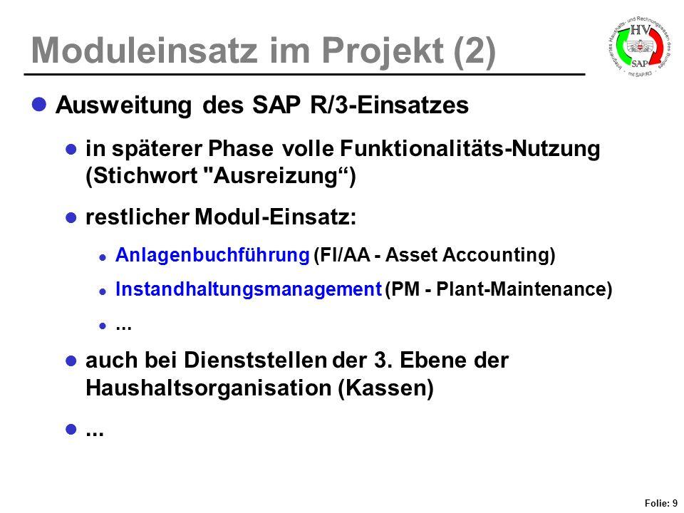 Moduleinsatz im Projekt (2)