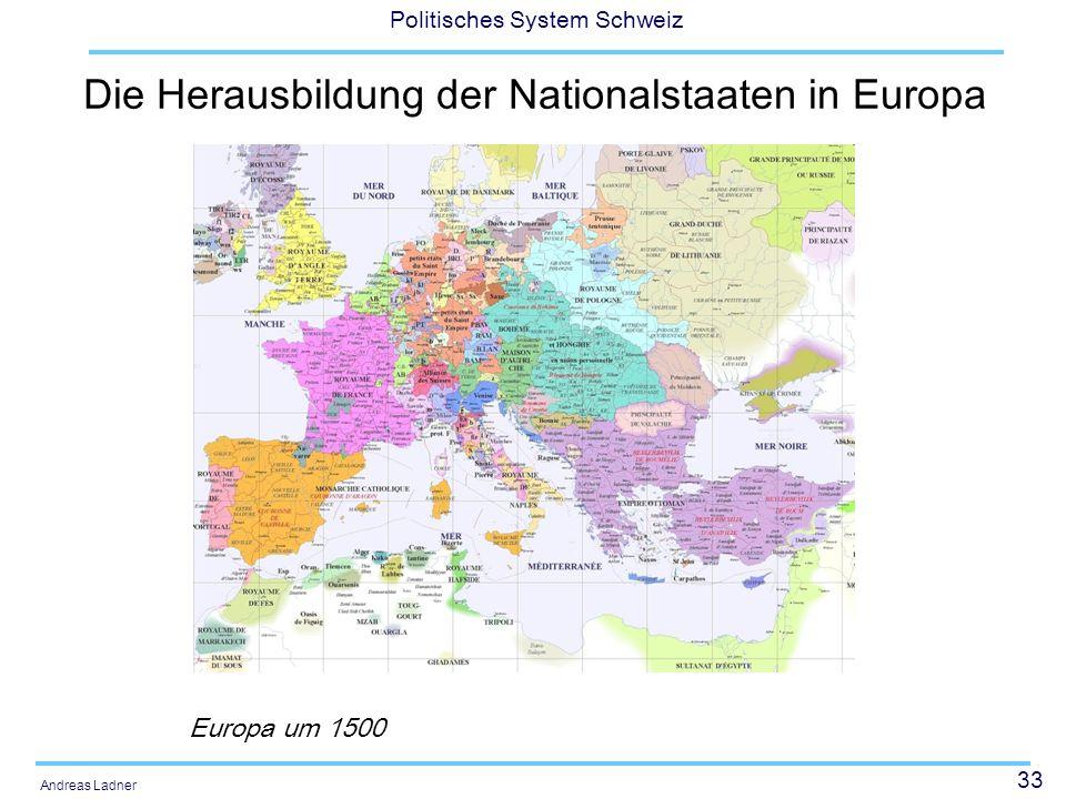 Die Herausbildung der Nationalstaaten in Europa