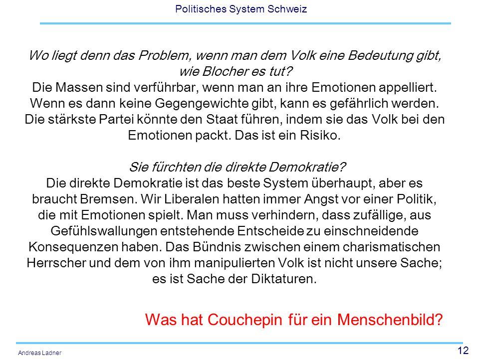 Was hat Couchepin für ein Menschenbild