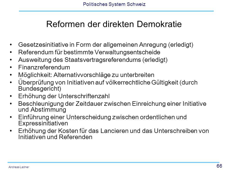 Reformen der direkten Demokratie