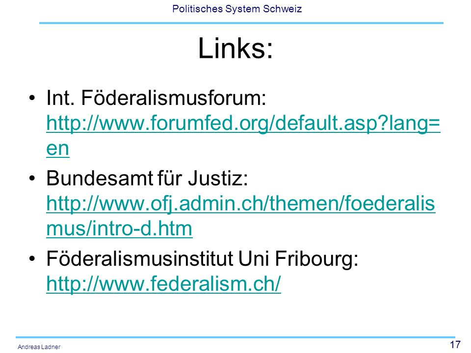 Links: Int. Föderalismusforum:   lang=en.