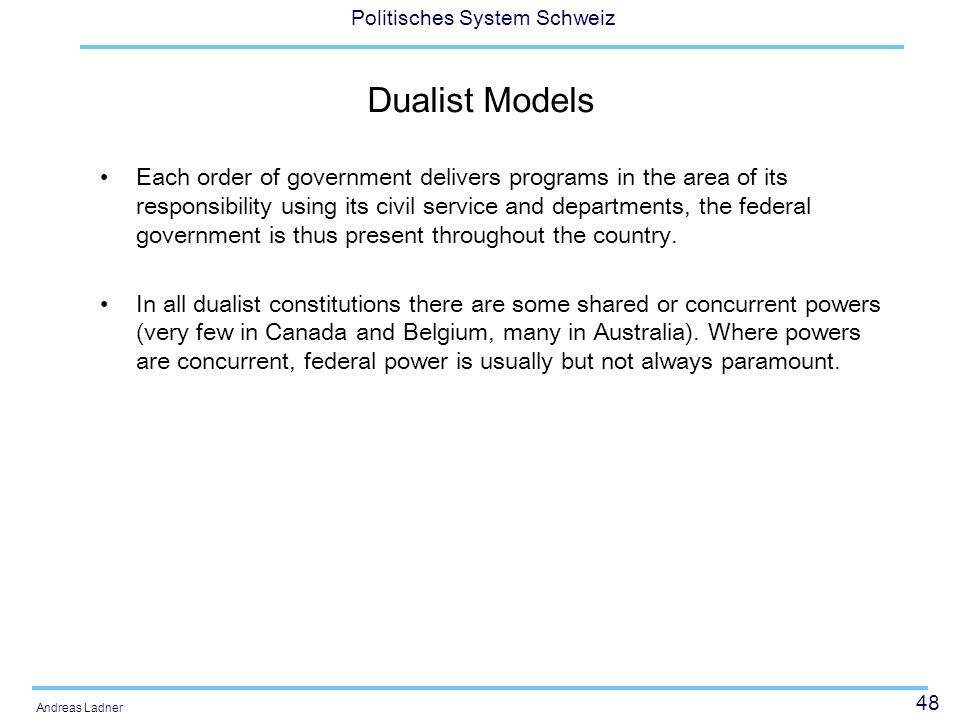 Dualist Models