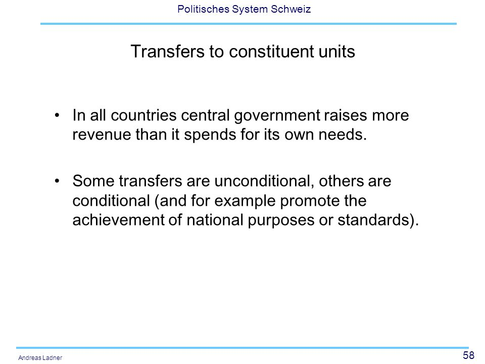 Transfers to constituent units