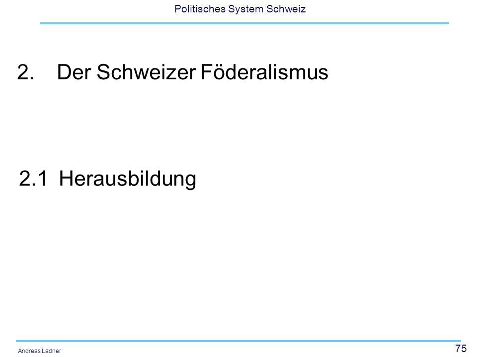 2. Der Schweizer Föderalismus