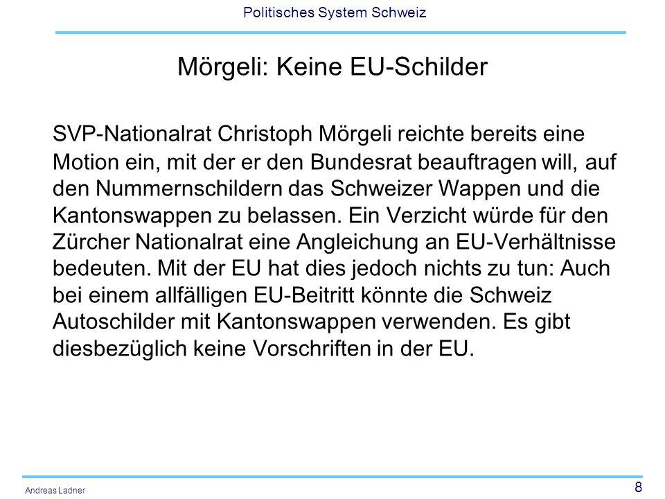 Mörgeli: Keine EU-Schilder