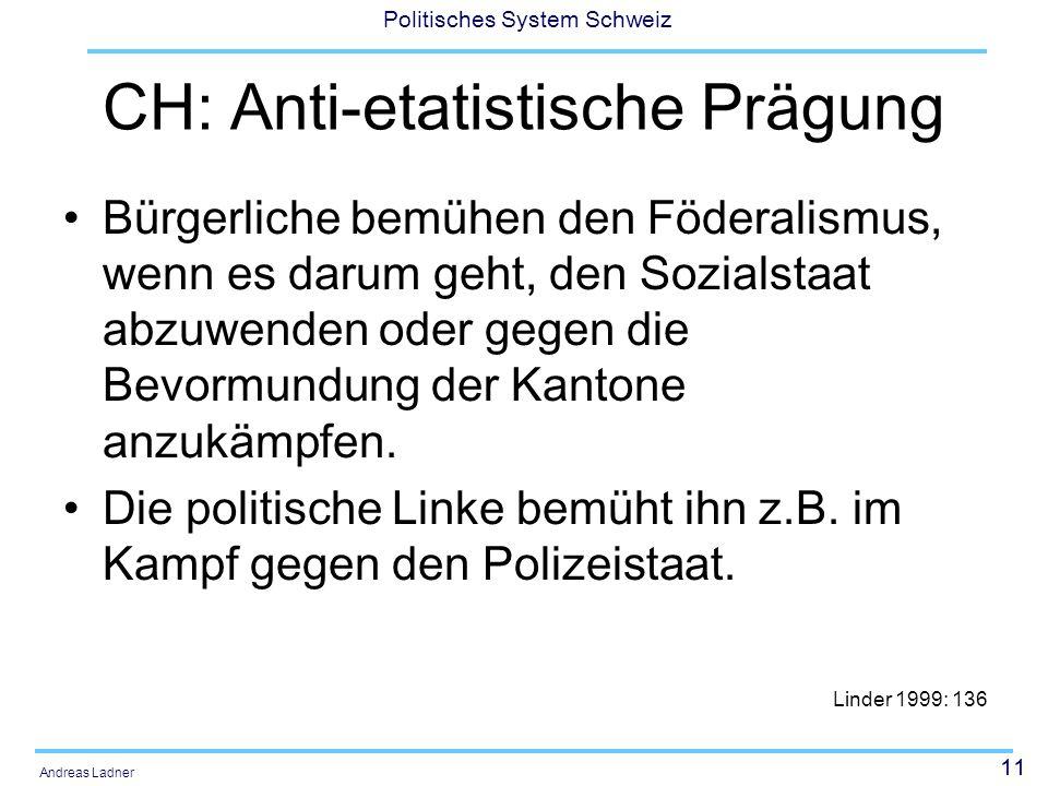 CH: Anti-etatistische Prägung