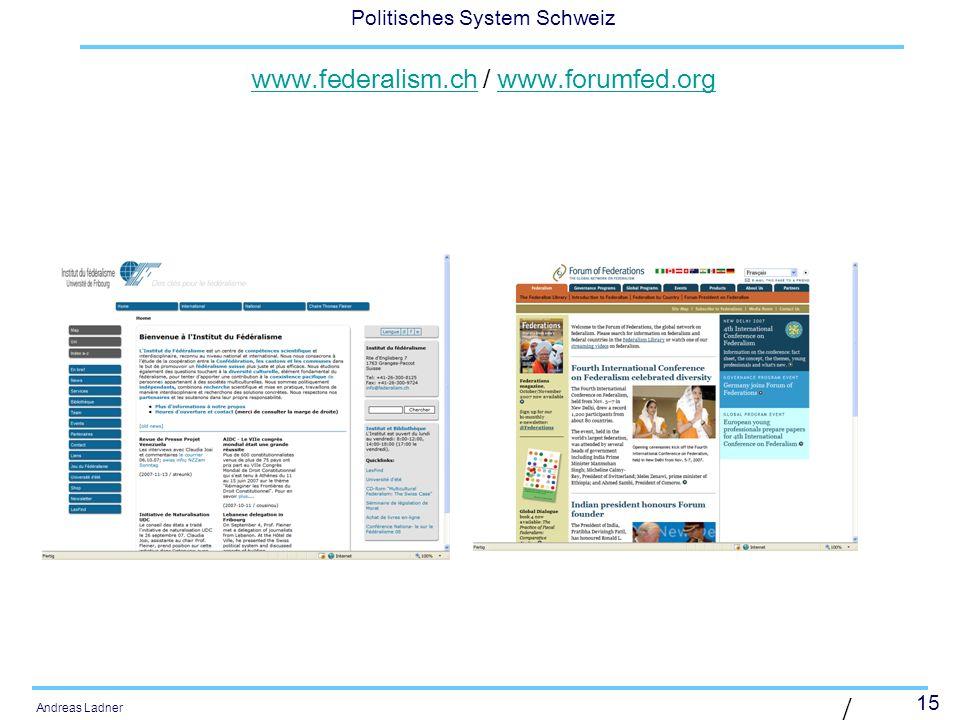 www.federalism.ch / www.forumfed.org
