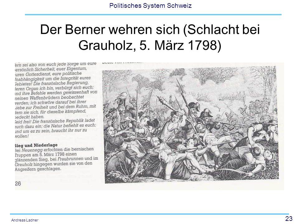 Der Berner wehren sich (Schlacht bei Grauholz, 5. März 1798)