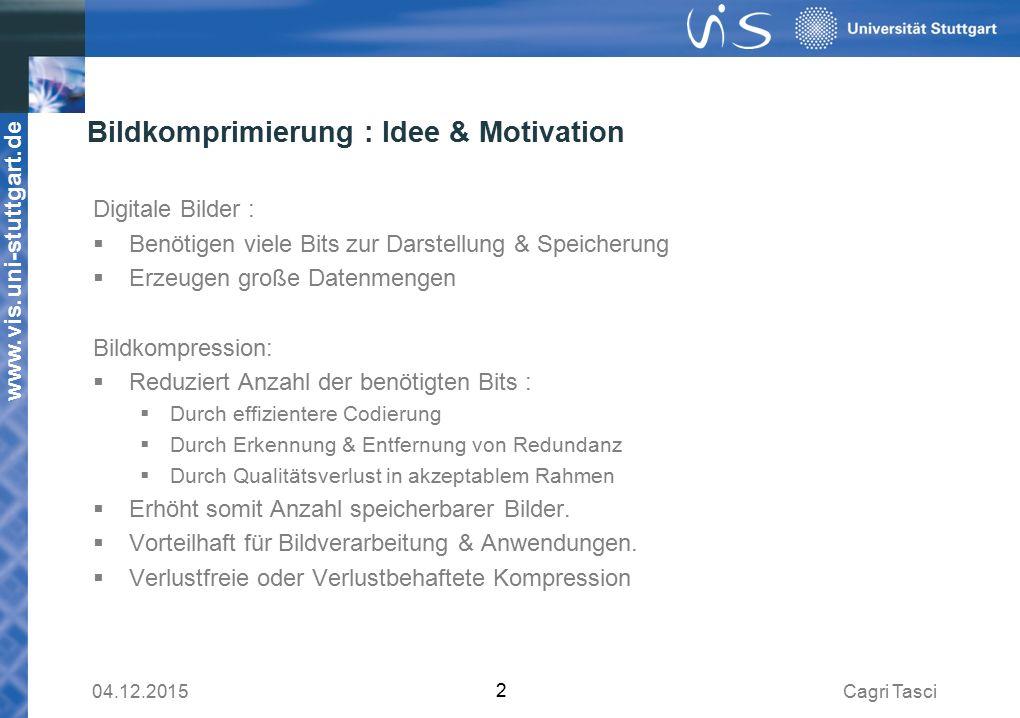 Bildkomprimierung : Idee & Motivation