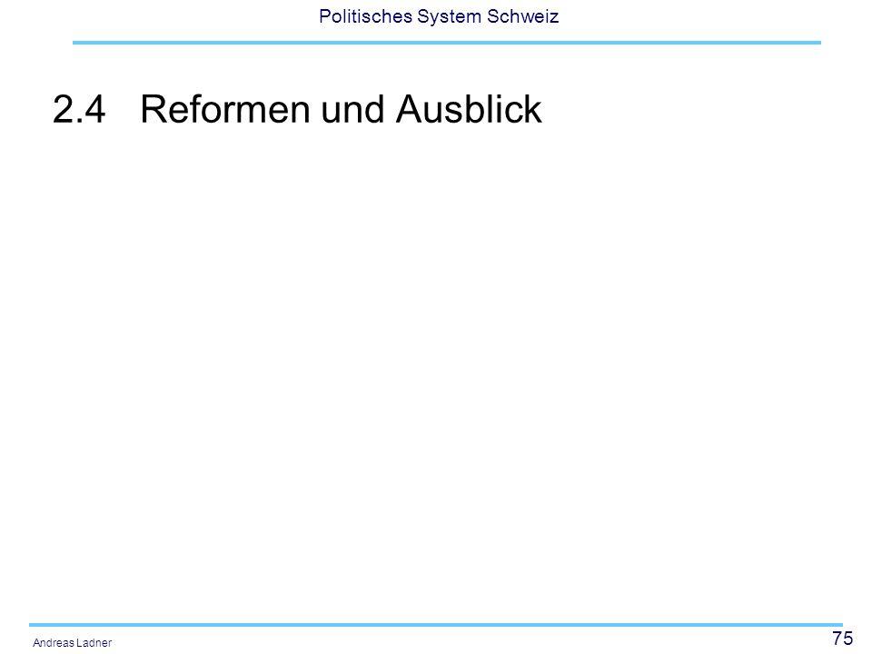 2.4 Reformen und Ausblick Vox-Analyse