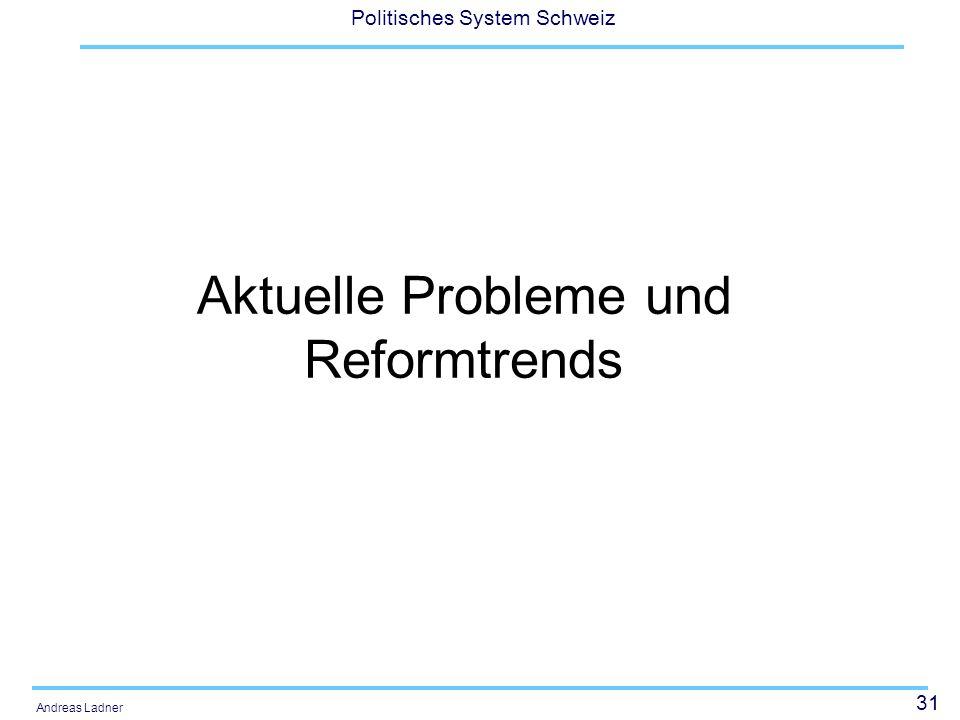 Aktuelle Probleme und Reformtrends