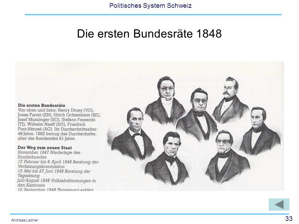 Die ersten Bundesräte 1848