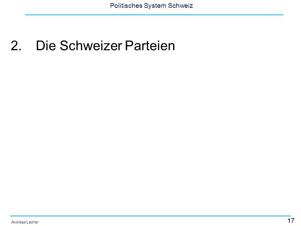 2. Die Schweizer Parteien