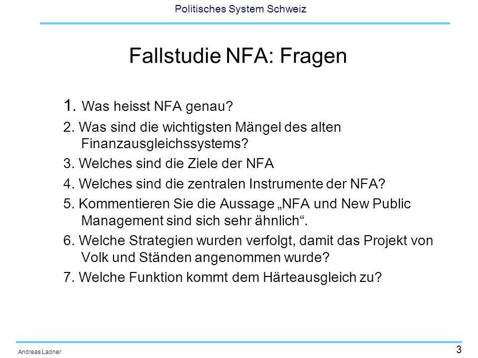 Fallstudie NFA: Fragen