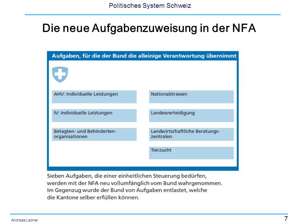 Die neue Aufgabenzuweisung in der NFA