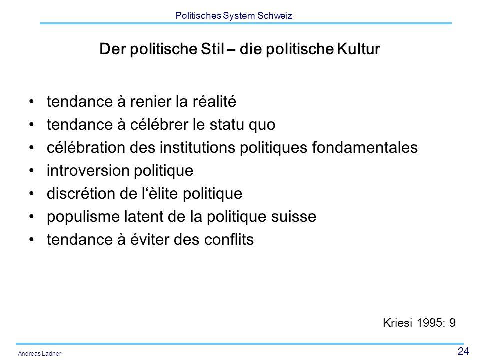 Der politische Stil – die politische Kultur