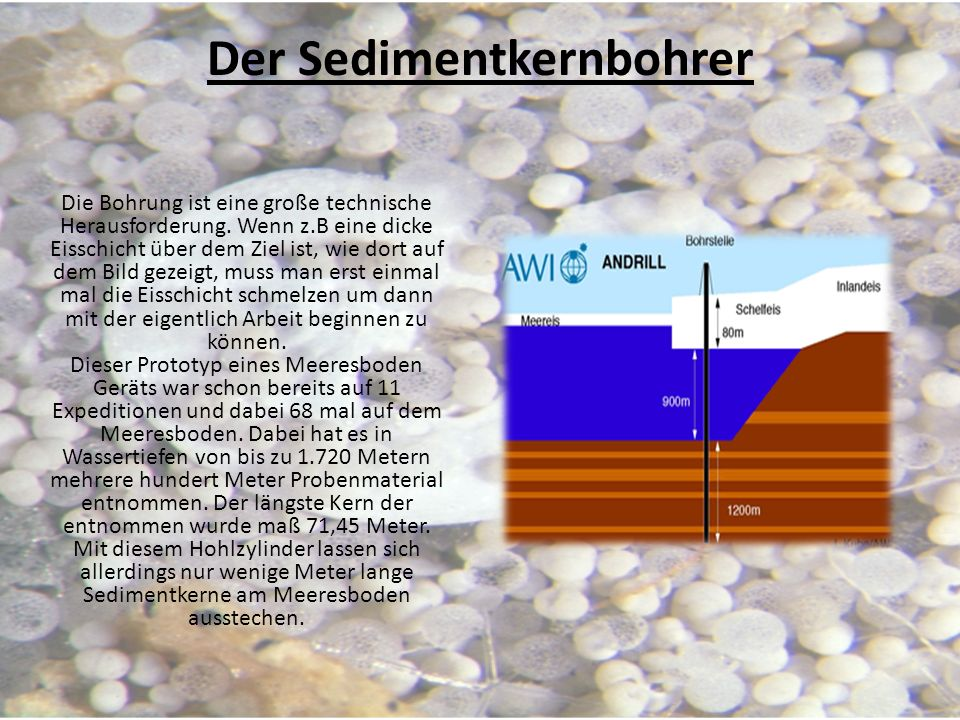Der Sedimentkernbohrer