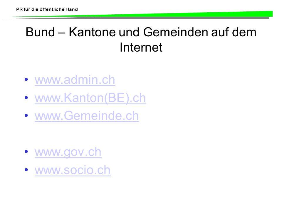 Bund – Kantone und Gemeinden auf dem Internet