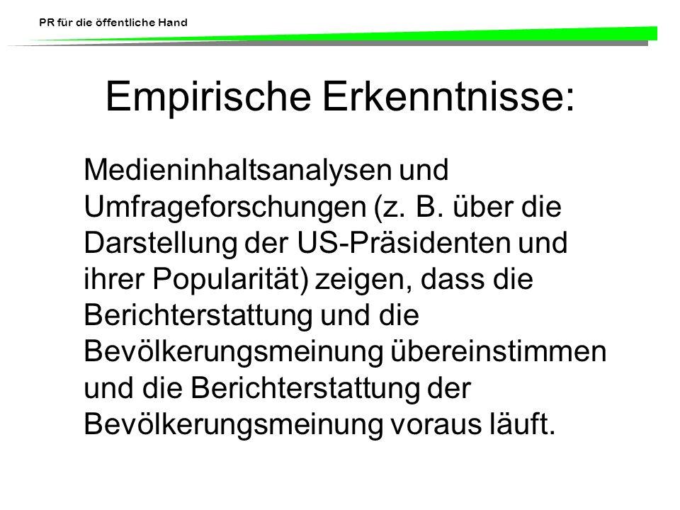 Empirische Erkenntnisse: