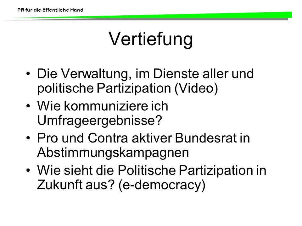 Vertiefung Die Verwaltung, im Dienste aller und politische Partizipation (Video) Wie kommuniziere ich Umfrageergebnisse