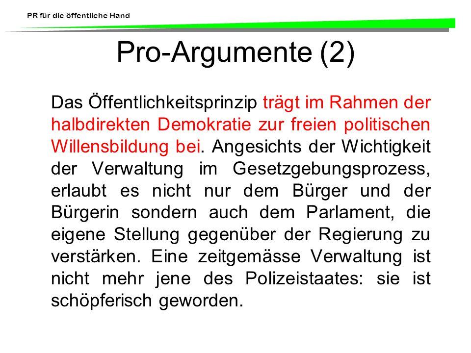 Pro-Argumente (2)