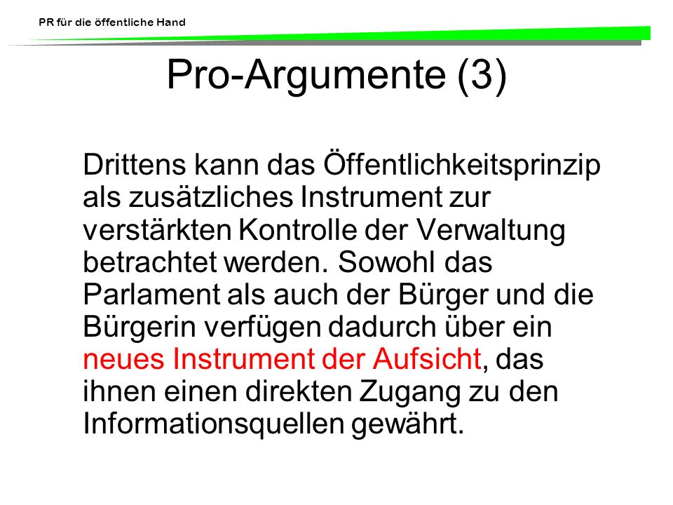 Pro-Argumente (3)