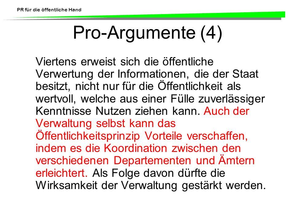 Pro-Argumente (4)